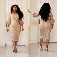 2018 Champagne Mermaid Plus Size Mother Off Bride Dresses Je...