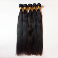 İşlenmemiş güzellik Siyah kadınlar Brezilyalı Malezya bakire düz İnsan Saç Örgüleri tam manikür hizalı Fabrika Doğrudan Satış Toptan