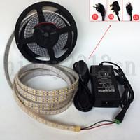 Full kit 5M 3528 LED Flexibel Strip Light Tape 1200LEDS Super Light Double Row IP67 Tube Vattentät + 12V 6A Strömförsörjning + DC-kontakt