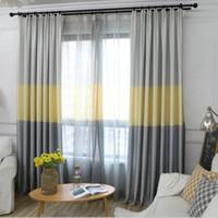 الشمال الحديثة التدرج ستائر التعتيم لغرفة المعيشة ديكور ثلاثة ألوان النسيج نوم الستار نافذة ظلال لوحة