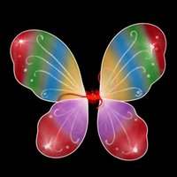 Children Girls Butterfly Fairy Wings for Kids Christmas Hall...