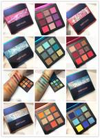 Yeni Sıcak Makyaj Plaette !! Güzellik Camlı 9 renkler Göz Farı paleti 5 stilleri Pırıltılı Metal Göz Farı DHL kargo