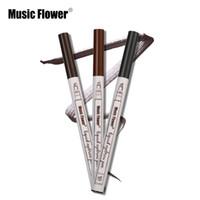 Yeni Müzik Çiçek Sıvı Kaş Kalem Müzik Çiçek Kaş Artırıcı 3 Renkler Çift Kafa Kaş Artırıcı Su Geçirmez Epacket Ücretsiz