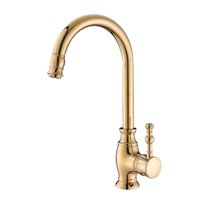 Kitchen Faucets European full brass Golden Hot and Cold Sink...