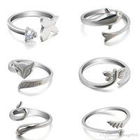 Новая горячая мода милый животное кольцо дольфинов, открытие минималистского темперамента Fox Snake кольцо крылья