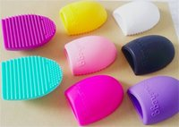 HIGH QUALITY!New Egg Cleaning Glove MakeUp Washing Brush Scr...