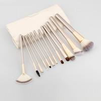 Free shipping 24pcs Professtional Makeup Brush Set Tool Beig...