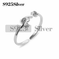 Love Ring Settings 925 Sterling Silver DIY Jewelry Findings ...