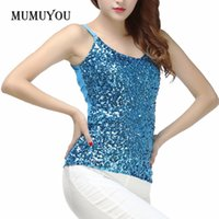 35e6002f2fb Women Lady Sexy Sequin Vest Bling Spaghetti Strap Singlet Glitter Slim Camisole  Tank Top Club Party Wear Fashion New 904-606