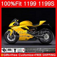 Injektionskropp för Ducati Panigale 899 1199 2012 2013 2014 2015 2016 106HM.57 899R 1199R S R 899S 1199S 12 13 14 15 16 Glans Golden Fairing