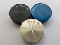 الجملة zicn سبائك معدنية الصلب أعلى 2 قطعة شارب الحجر طاحونة للتدخين الجاف عشب مطحنة شحذ 50 ملليمتر العشبية طاحونة