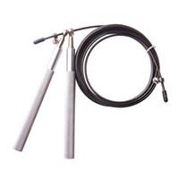 2016 Alüminyum Kolu Çelik Kablo Tel Yüksek Ultra Hız Atlama Ayarlanabilir Jump Halat Egzersiz Siyah ücretsiz kargo