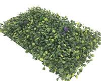 UV tappeto erboso artificiale di alta qualità indoor / outdoor 40cm x 25cm Erba falso boxwood verde di parete realistico realistico cercando Garden Lawn 125 -8013