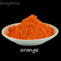 NEON-orange Farbfluoreszenzpigment-Leuchtstoffpulver, Dekoration-Pulver-Fluoreszenz 500g / lot für Kleidung, freies Verschiffen