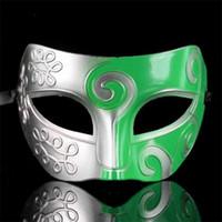 Mens Jazz Mask Halloween Masquerade Príncipe Máscaras Venetian Knight Dance Party media Cara Máscara de PVC bola Envío gratis