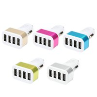 USB 자동차 충전기 3 포트 전화 충전기 어댑터 소켓 2A 2.1A 1A 자동차 스타일링 USB 충전기 범용 자동차 스타일링