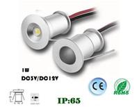 DHL 9PCS 1W 15 мм Мини Светодиодный светодиодный светодиодный светодиод под шкаф легкие лестницы света мини утопленный прожектор белый красный синий зеленый