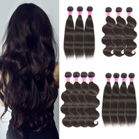 Brazilian Virgin Hair Weaves Straight Body Wave Human Hair B...