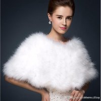 2018 Yeni Sıcak Faux Fox Kürk Gelin Şal Kürk Sarar Evlilik Silkir Gelin Kış Düğün Parti Boleros Beyaz Allık Fabrika Satış Coat Gelin için