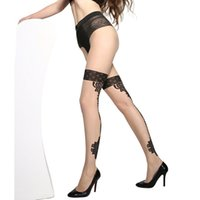 d5e9dac9fda78 2018 summer New Sexy women Jacquard Pantyhose Printed Tattoo Stockings  Sheer Pantyhose Tights good quality #6006