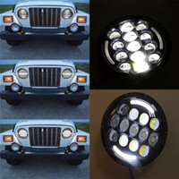 2 X 7 inch 105W LED Headlight Projector with Halo Angel Eye ...
