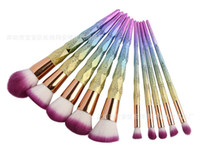 10 قطعة / المجموعة فرش ماكياج مجموعات فرشاة التجميل 10 مشرق اللون أدوات لولبية عرقوب 3d ماكياج المسمار مجانا dhl