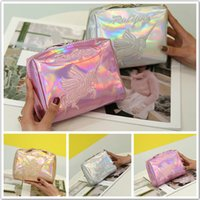 2018 New Bling Laser 3Colors Unicorn Handbag Kids Pencil Bag...