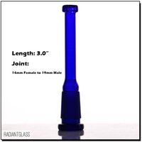 Wholesale blue green glass downstem diffuser reducer 18. 8mm ...