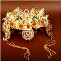 Chinese ancient costume, bridal headwear, dragon and Phoenix...