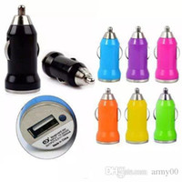 Colorful Car Chargers Bullet Mini USB Iphone USB Adapter Cig...