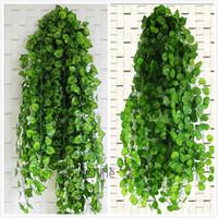 النباتات 210CM قدم طويل الاصطناعي الأخضر لبلاب أوراق الاصطناعي كرم العنب وهمية أوراق الشجر أوراق الرئيسية مناسبات الزفاف جارلاند