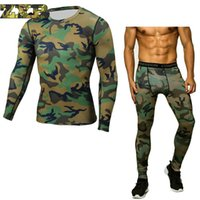 Camouflage Compression Tactical Shirt Clothing Long Sleeve S...
