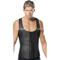 Faja Hombre Entrenador de cintura de látex para hombre Negro Fajas de cuerpo más grande Hombres Deshuesado de acero Cintura Modeladora de cintura con chaleco de desgaste