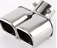 الخمارات ذات جودة عالية سيارة الفولاذ المقاوم للصدأ، العادم أنبوب منفذ ذيل الزخرفية (OD 63MM) لشركة هيونداي إنسينو / كونا 2018-2020