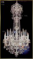 Long Stier Chastelier Crystal Lamps Большой фойсер K9 Лучший свет Современная гостиная столовая комплексная лестница освещения люстры