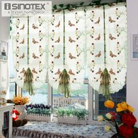 1 Pcs Pastoral Tulle Window Roman Curtain Embroidered Sheer ...
