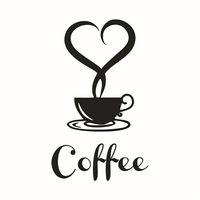 Мой дом 20*12.5 см обои съемный DIY кухня декор чашка кофе наклейки Виниловые кружки стикер стены 14 июня