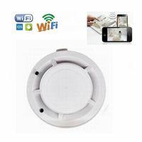HD Wifi Duman Dedektörü Mikro Kamera Duman Dedektörü Video Kaydedici Gerçek Duman Algılama Fonksiyonu Aile Güvenlik Kamerası ile