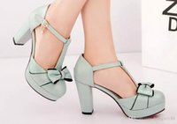 2017 summer sweet bowknot documentary shoes high thick with ...