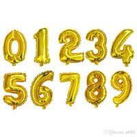 알루미늄 호 일 풍선 16inch 번호 디자인 웨딩 크리스마스 생일 파티 장식 동향 풍선 풍선 0 42zz ZZ