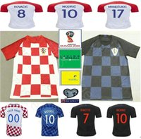 2018 World Cup Hrvatska Soccer Jerseys 10 MODRIC 4 PERISIC 7 RAKITIC 17  MANDZUKIC Customize Home Away Red Blue CrOaTiAes Football Shirt 253002c17