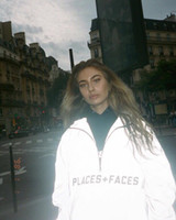 Places + Faces Reflective ZIP Up con cappuccio Amanti maschili e femminili di felpa con cappuccio alta qualità P + F