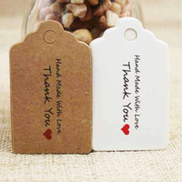 5*3cm vintage DIY thank you note jewelry label tag brown/white garment swing products tag handmade tag200pcs per lot