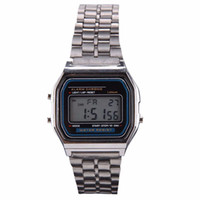 Fashion Gold Silver Watches Men Vintage Watch Electronic Dig...