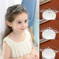 1cb4b5b87ee43 2018 Shiny Girls Crowns Top Quality Rhinestones Kids Hairbows In Stock Hair  Hoops Accessories for Children