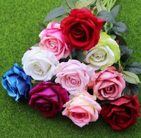 11 Colors Real Touch Rose Flower Artificial Silk Flower Wedd...