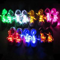Lacets LED Nylon Lumineux Multicolore Clignotant Flash Lumineux Extérieur Kit De Partie Shoestraces Lacets De Chaussure DHL FEDEX EMS LIVRAISON GRATUITE