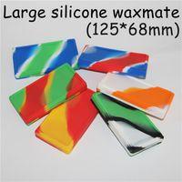 Flat Waxmate Containers Silikonöl Pad Silikonspeicher Square Shape Wax Jars Tupfen Concentrate Tool Dabber Öl Halter Silikonwachs Mate Pad