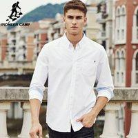 Pioneer Solid Camp Повседневная Рубашка Мужская Брендовая Одежда Новый С Длинным Рукавом Slim Fit Твердые Мужские Рубашки Качества Хлопка Белый Скатерть