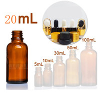 Amber glass dropper bottle 20ml Essential oil bottle Anti th...